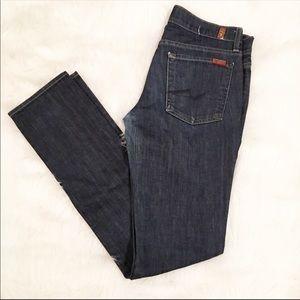 7 For All Mankind Roxanne dark wash denim jeans 29
